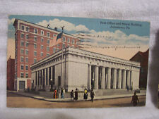 POSTCARD USED POST OFFICE AND MAYER BUILDING JOHNSTOWN PA 1915 ERA