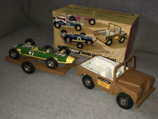 Triang Mini Hi-way Land Rover Racing Car Set With Original Box