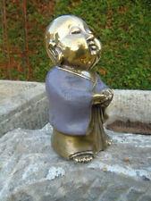 BOUDDHA  EN BRONZE , statue bouddha shaolin bronze  pat couleur