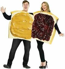 Peanut Butter Costume Adult Halloween Party Fun Clothing Couple Set Outfit 2pcs