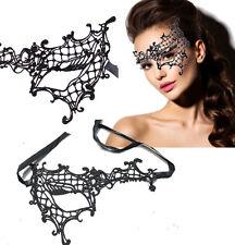 Victorian Venetian Masquerade Black Lace Half Mask Lolita Costume Ball Halloween