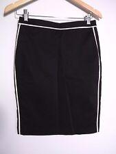 Portmans Women's Black & White Skirt - Size 8