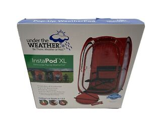 InstaPod Under the Weather Pop-Up Canopy Tent, Durable Weatherpod, XL, Red, NEW