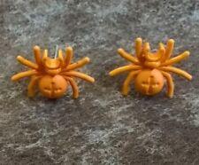 Lego Orange Spider Stud Earrings