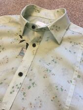 GORGEOUS DIESEL GREEN FUNKY FLOWER FLORAL PRINT SHORT SLEEVE SHIRT M MEDIUM