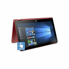"""HP  Touch-Screen Red x360 15t Laptop 15 Convertible 15.6"""" FHD i3-7100U 4GB 1TB"""