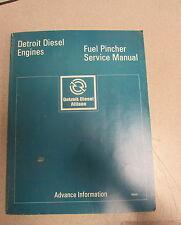 Detroit Diesel Engines Fuel Pincher Service Repair Manual 1980
