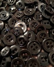 "⭐️   ANTIQUE~VINTAGE CHINA BUTTONS~LOT OF 100+ ASSORTED ""BLACKS""     ⭐️"