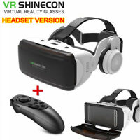 VR BOX Virtual Reality 3D Glasses Headset + Bluetooth Remote Control For PC TV