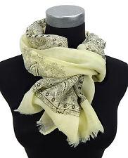Women's Scarf yellow pastel black von Ella Jonte Oriental scarf new season new