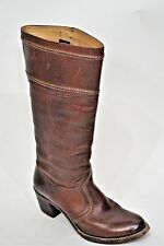 $368 Frye Jane Tall Leather Boots Redwood Brown 77230 Sz 10B Nice Distressed