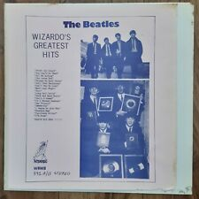 THE BEATLES WIZARDOS GREATEST HITS RARE 1976 US WIZARDO TMOQ LABEL PAPER COVER