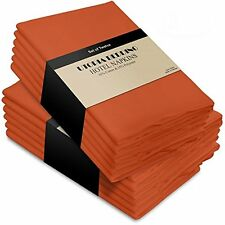 Cotton Dinner Cloth Napkins Napkins Orange - 12 Pack (18 inches x18 inches) Soft