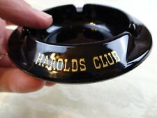 Vintage Harolds Club Black Amethyst Ashtray Reno Nevada Casino