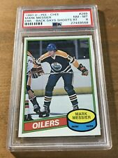 1980 O-PEE-CHEE Mark Messier RC #289 NM-MT PSA 8 ERR. - BACK SAYS SHOOTS RT.