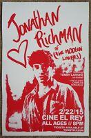 JONATHAN RICHMAN 2015 Gig POSTER McAllen Texas Concert