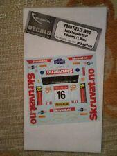 DECAL 1/24 FORD FIESTA WRC SWEDEN RALLY 2014
