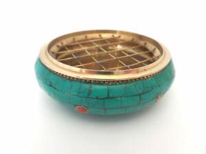 Räuchergefäß - Netzgefäß Messing mit Steinen + Gitter für Kohle