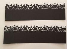Halloween Black Spider Border Die Cut Punches Handmade With Card Stock