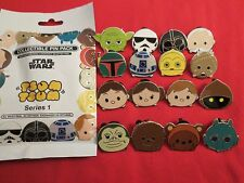 Disney Star Wars Tsum Tsum Series 1 Mystery Bag Collection 16 Pin Full Set Yoda+