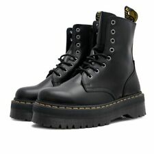 Dr. Martens Jadon Smooth Leather Platform Black Polished Womens Boots 15265001