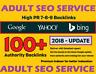 Adult Service . Get 100 Unique SEO Backlinks On DA100-50Sites .Google 100% SAFE