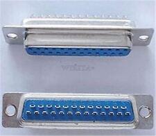 5Pcs Female Db25f Solder Type Connector 25 Pin D-Sub Ic New W