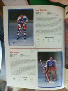 Mike Richter Signed USA Hockey Team 1987-88 Yearbook Plus Others