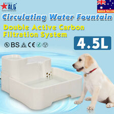 4.5L Auto Waterfall Drinking Fountain Cat dog Pet Drinker Water Bowl with Filter