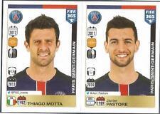 PANINI-2016 FIFA 365- #440-441-PARIS SAINT-GERMAIN-THIAGO MOTTA-JAVIER PASTORE