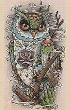 Cross Stitch Chart - Colourful Owl pop art No. 392 .TSG37