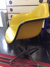 Vintage Herman Miller Eames Fiberglass Upholstery Arm Shell Chair Swivel