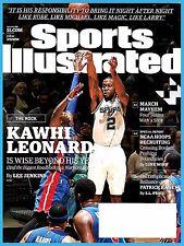 Sports Illustrated March 14, 2016 Kawhi Leonard, Patrick Kane, March Madness