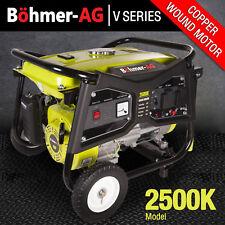 Portable Petrol Generator ~ 2200w 2.8 KVA Electric Camping Power ~ 2500K Bohmer