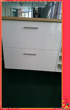 High Gloss White Kitchen Cupboards 2 Drawers 600