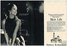 A- Publicité Advertising 1968  (2 pages) Cosmétique Crème Helena Rubinstein