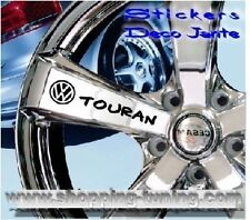 8 STICKER AUTOCOLLANT LOGO JANTE VW VOLKSWAGEN TOURAN