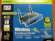 LINKSYS WIRELESS - G BROADBAND ROUTER WRT54G and WMP11 WIRELESS PCI CARD bundle