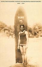 """Duke Kahanamoku - SURFER LEGEND Hawaii, Surf board Print, photo, 20""""x12"""""""