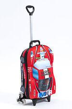 Kid's Trolley Roller Bag Car 3D Rolling Suitcase Luggage Backpack Alternative
