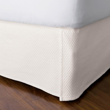 Madelyn Matelasse 18 In. Ivory Cotton Queen Bed Skirt