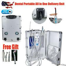 Portable Dental Delivery Unit Mobile Rolling Suit Case Suction Led Curing Light