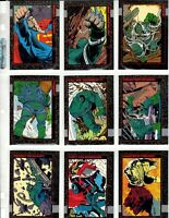 1992 Skybox DOOMSDAY The Death of Superman Complete 90 Card Set + Plastic Pages