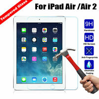 Genuine Tempered Glass Film Screen Protector For Apple iPad Air 1 & 2 iPad 5 & 6