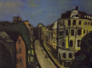 "Pastellbild ""Stadt"" um 1980                                                /4964"