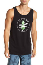 Billabong Surf Men's S Tank Top Tee Black Aloha Green Pineapple Hawaii