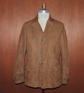 TRUSSARDI TRU Men's EUR sz 52 US 42 Suede Leather Jacket