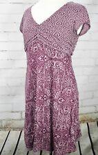 ATHLETA Dhara Layered Summer Dress Cap Sleeve Style 835929 Size M Purple Paisley