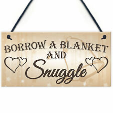 Shabby & Chic Wedding Sign Gift Blanket Snuggle Present Plaque Vintage Guests