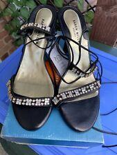karen millen Strap Black Evening Shoes UK 6